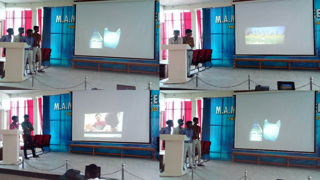 Essay writing competition YRC club of MAMCE conducted short film contest