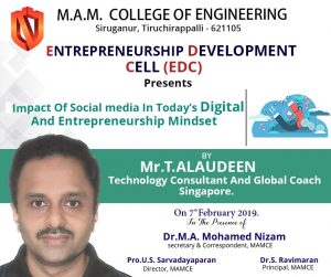 TECHNOLOGY CONSULTANT FROM SINGAPORE MR. T. ALAUDEEN