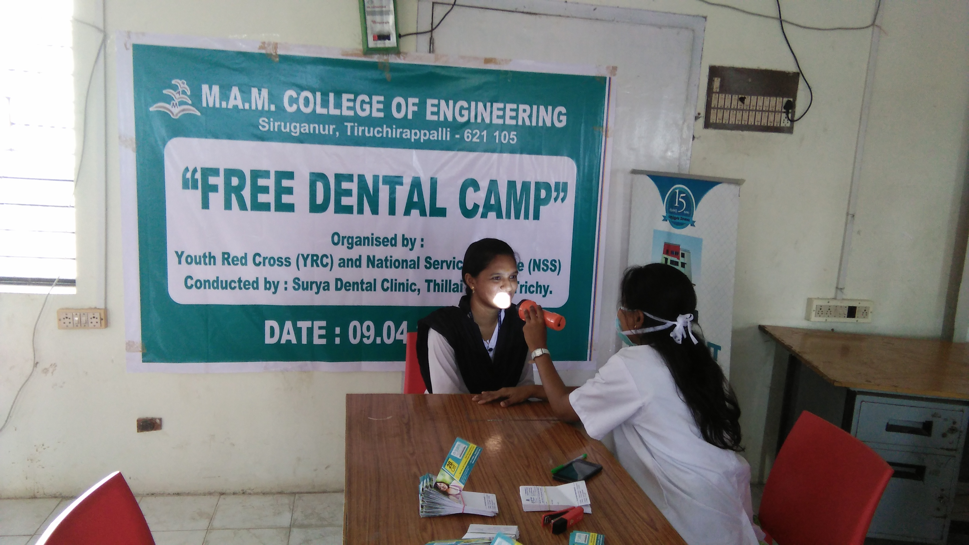 YRC In Association With NSS Conducted Dental Camp